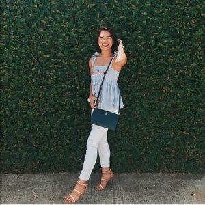 Zara Pinstripe Summer Top